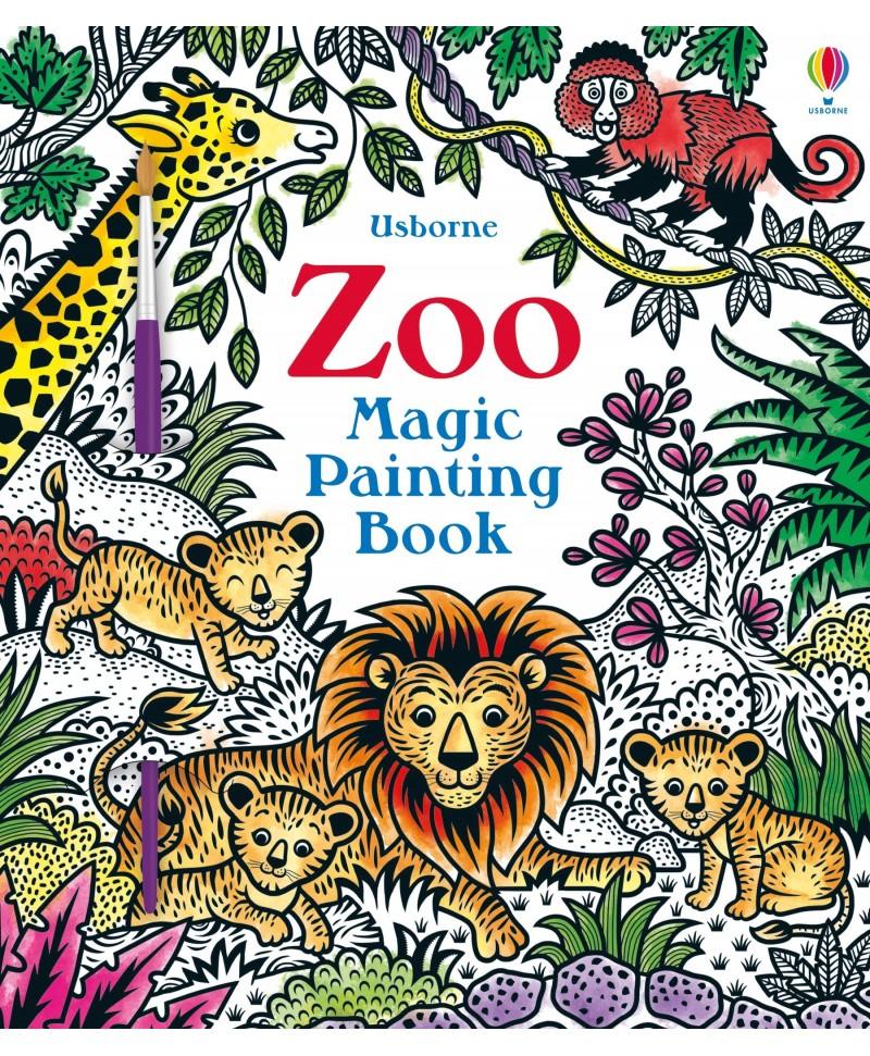 Carte cu pictură magică Magic Painting Zoo