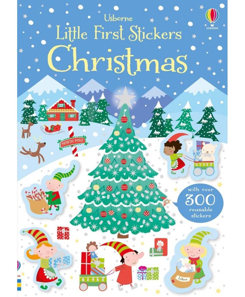 Carte cu stickere de Crăciun - Little first stickers Christmas