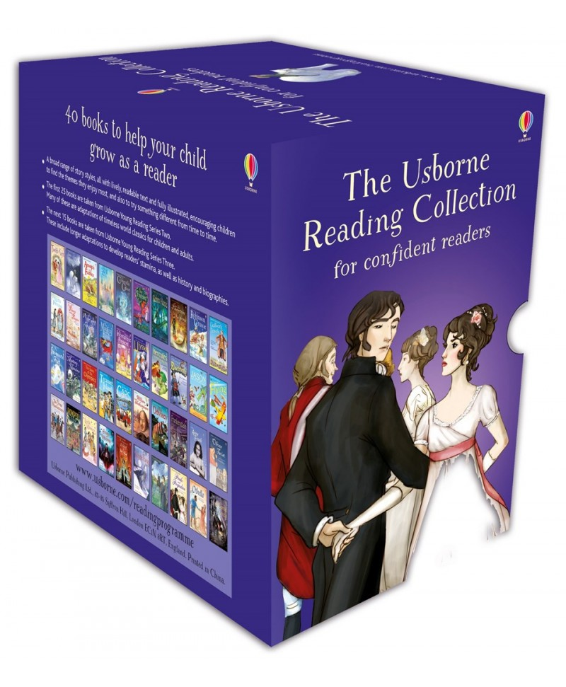The Usborne Reading Collection for Confident Readers - 40 carti in limba engleza  6ani+