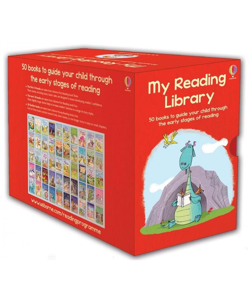 Colecție de 50 cărți pentru copii My reading library +4 ani