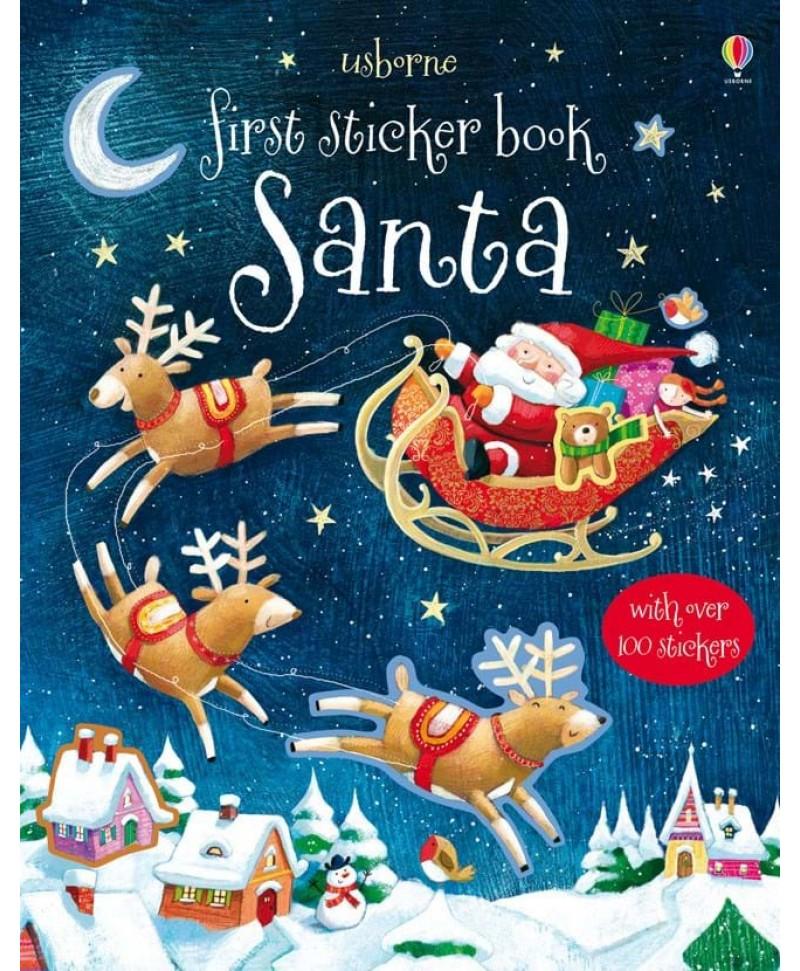 Carte cu stickere de Craciun First sticker Santa