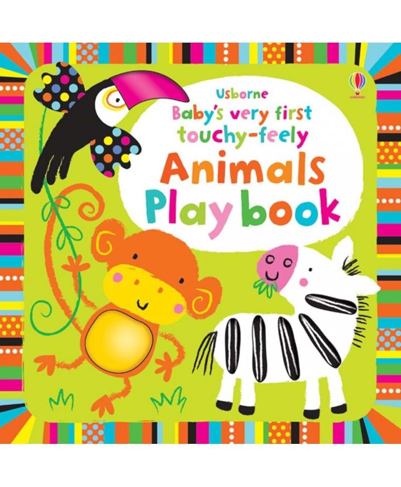 Carte senzoriala cu animale, pentru bebelusi – Baby's very first touchy-feely animals play book