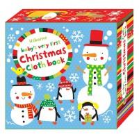 Carte senzoriala, moale, pentru bebelusi Baby's very first Christmas cloth book