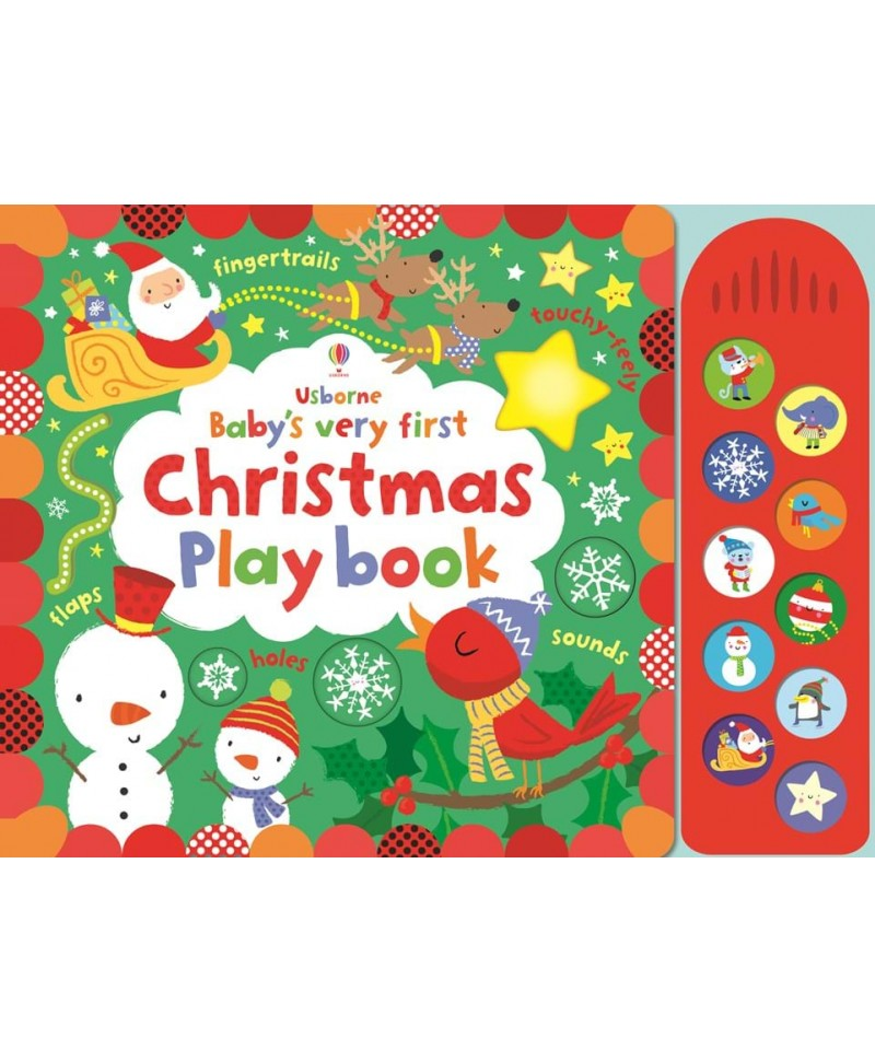 Carte muzicală și senzorială Baby's very first Christmas playbook