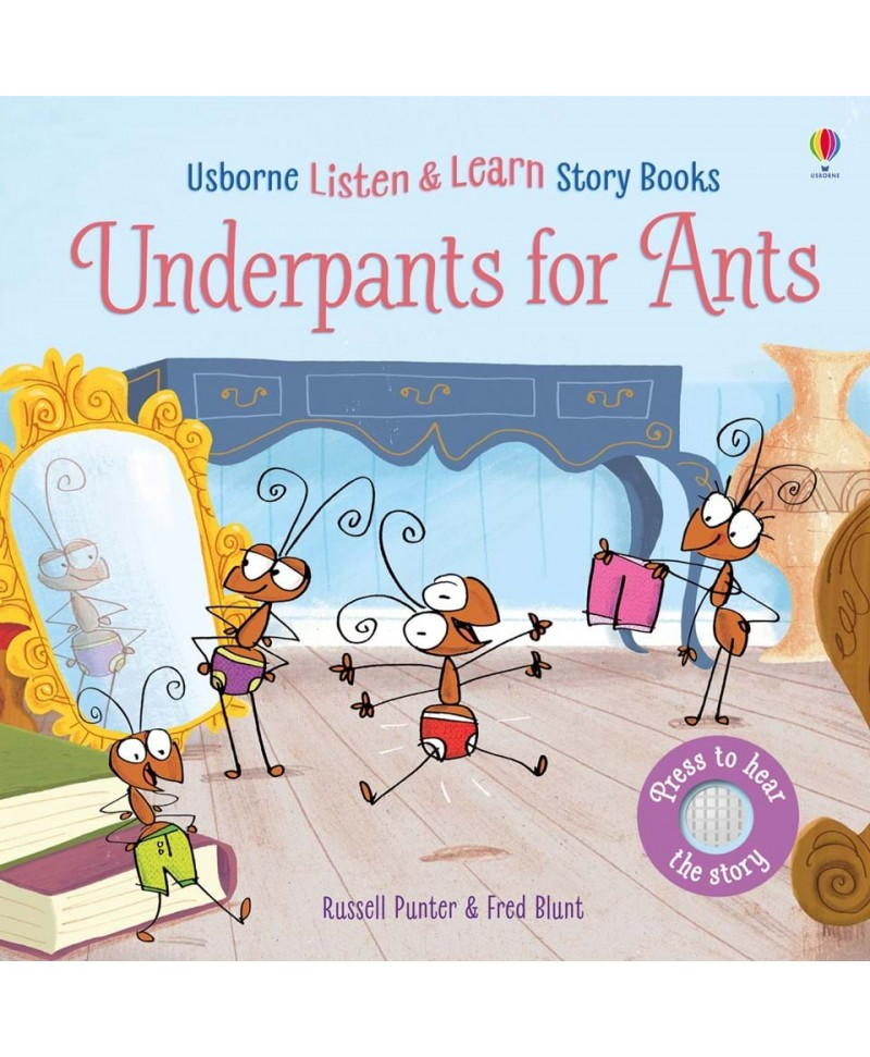 Carte audio Underpants for ants - atingi pagina si se aude povestea