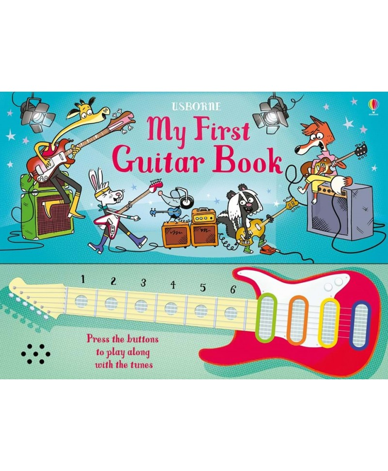 Carte muzicală tip chitară My first guitar book