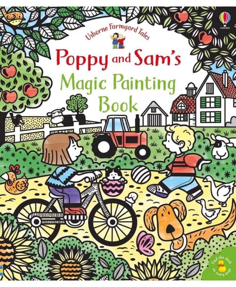 Carte cu pictură magică Poppy and Sam's magic painting book
