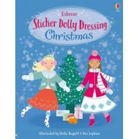 Carte cu stickere păpuși - Sticker dolly dressing Christmas