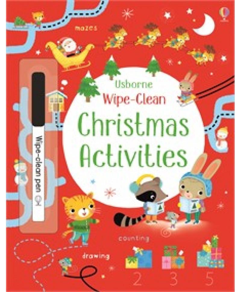 Scrie și șterge Wipe-clean Christmas activities