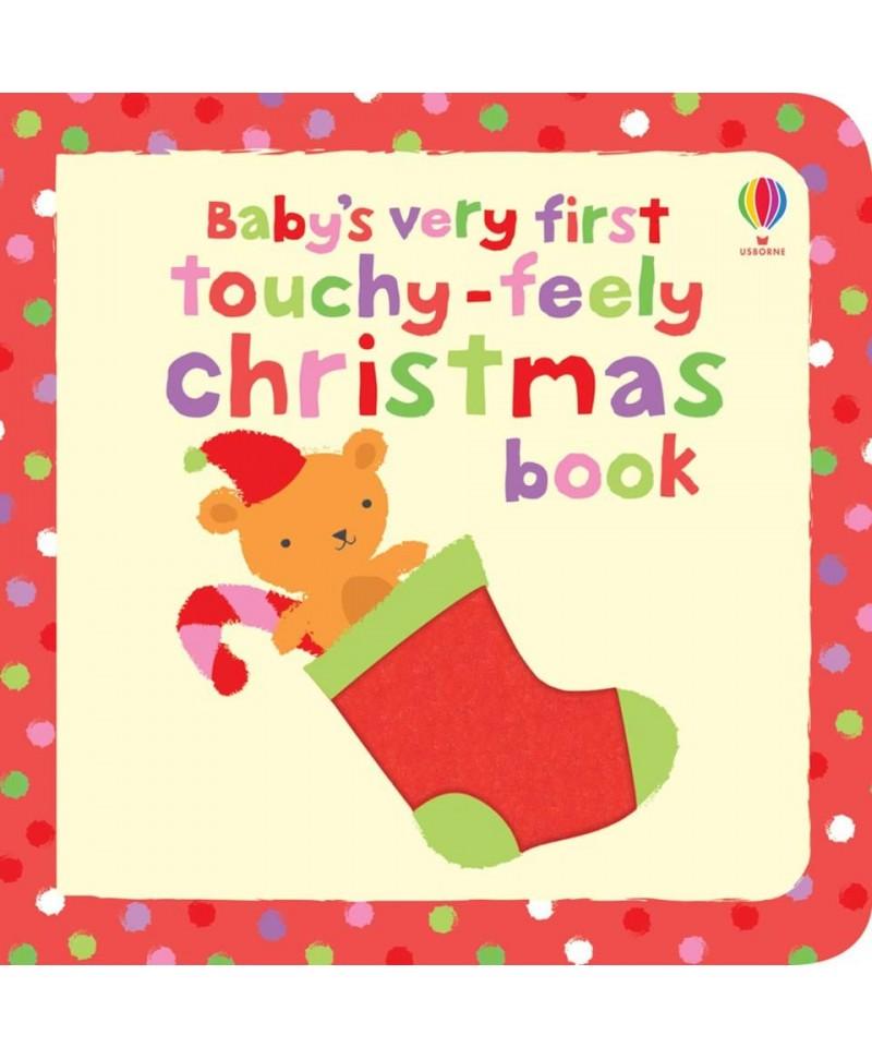 Carte senzorială pentru bebeluși mici Baby's very first touchy-feely Christmas book +6l