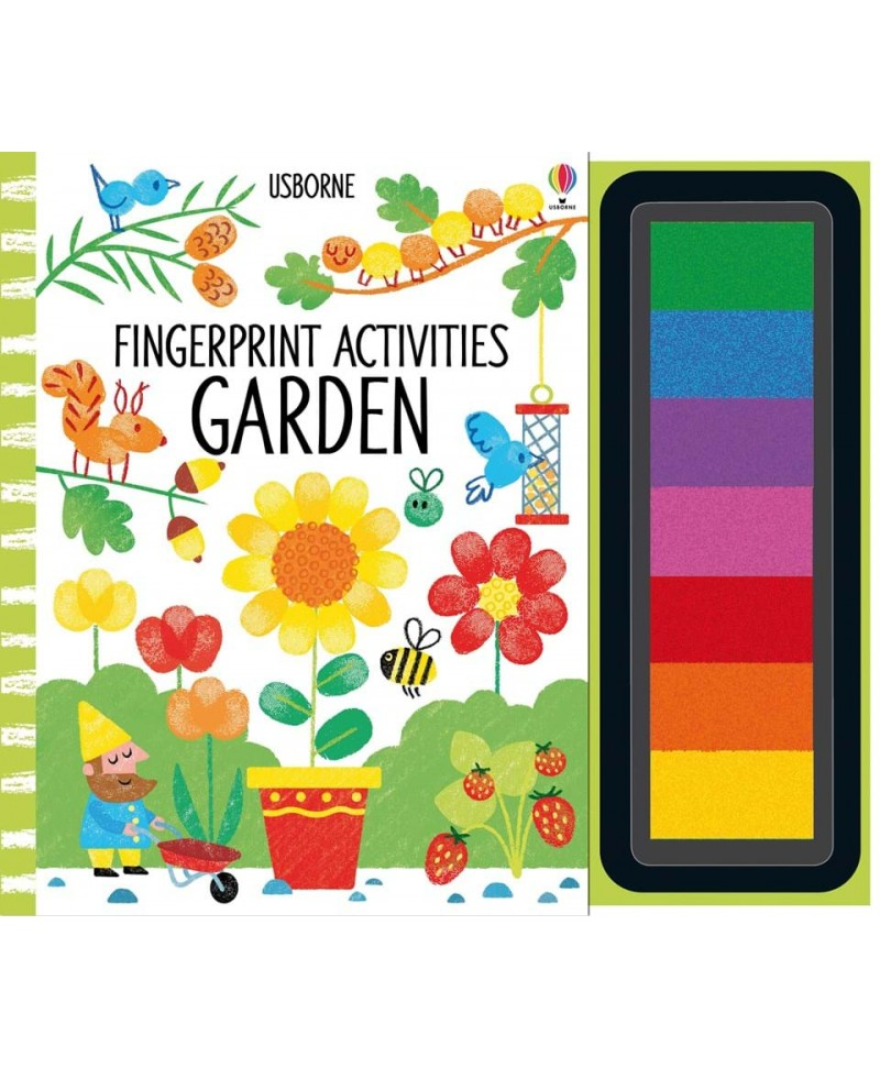 Carte de pictat cu degetelele Fingerprint Activities Garden
