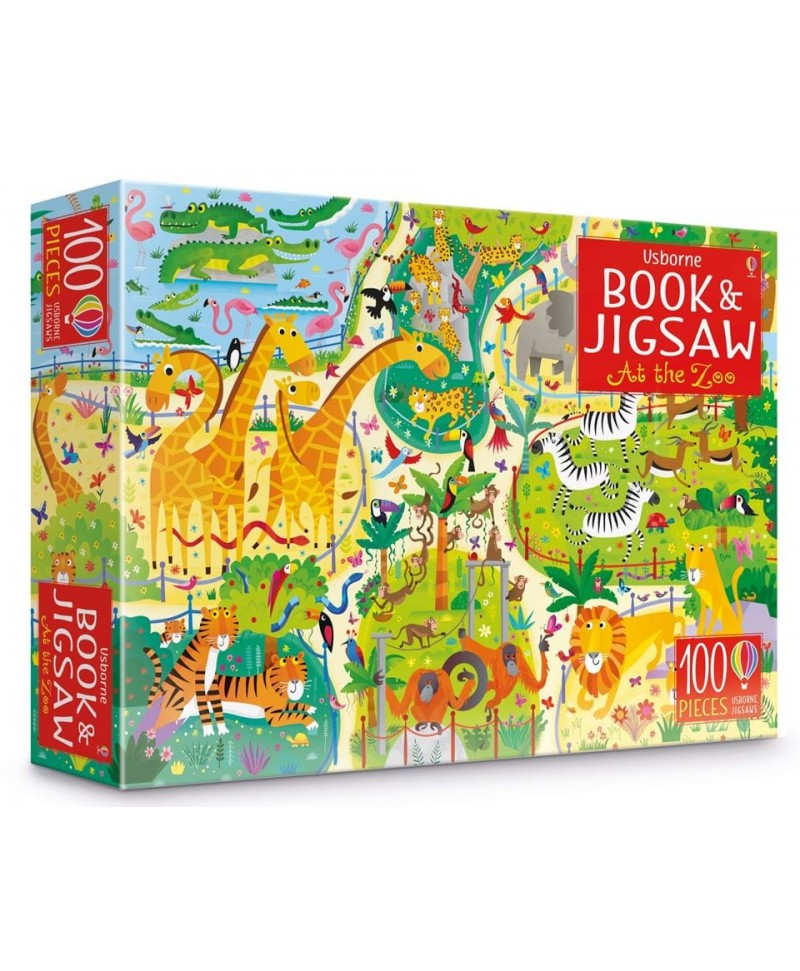 La zoo Carte + puzzle At the zoo puzzle book and jigsaw