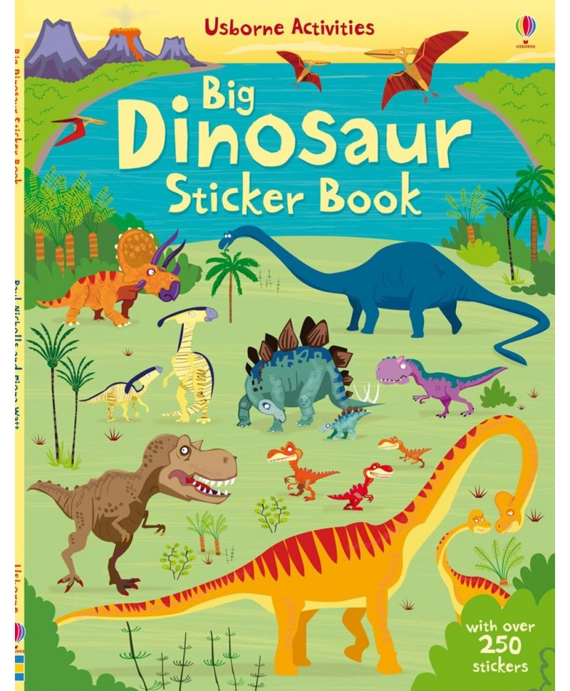 Carte cu stickere cu dinozauri - Big Dinosaur sticker book