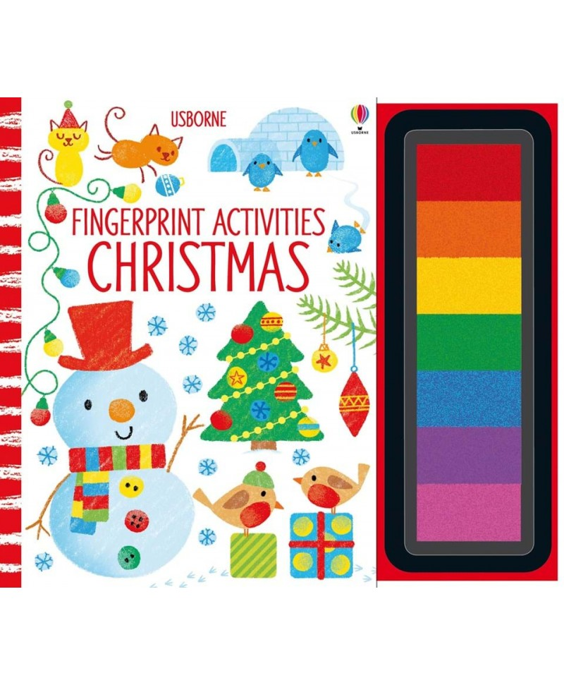 Carte de pictat cu degețelele Fingerprint activities Christmas