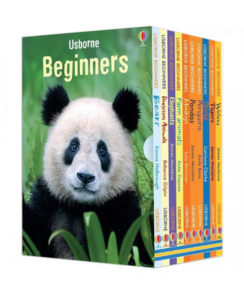 Set de 10 cărticele in limba engleza despre Animale Beginners Animals Box Set
