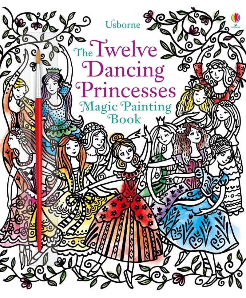 Carte cu pictură magică Twelve dancing princesses
