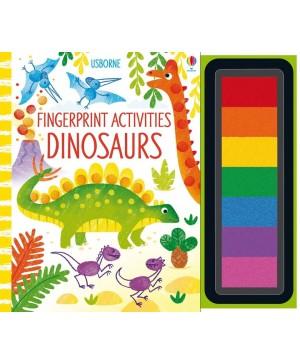 Carte de pictat cu degețelele Fingerprint activities dinosaurs