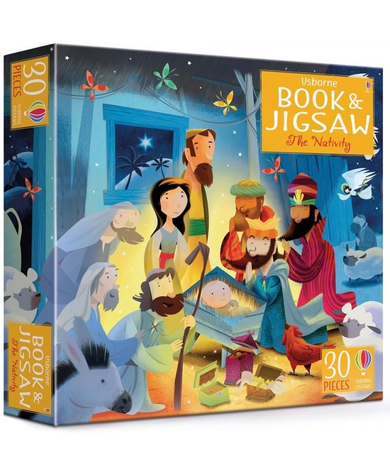 Carte + puzzle Nașterea Domnului The Nativity
