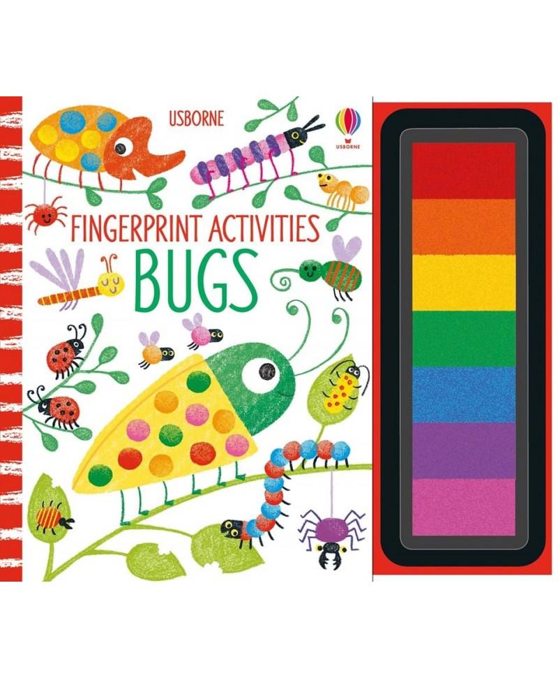 Carte de pictat cu degețelele Fingerprint Activities Bugs