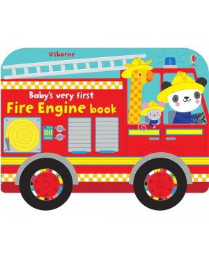 Baby's very first fire engine book - carte mașină de pompieri cu roți, pentru bebeluși