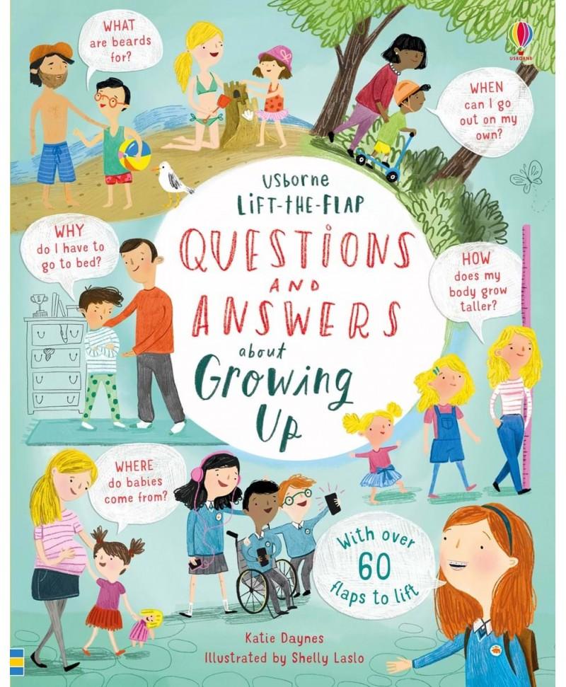 Întrebări și răspunsuri despre când voi fi mare Lift-the-flap questions and answers about growing up