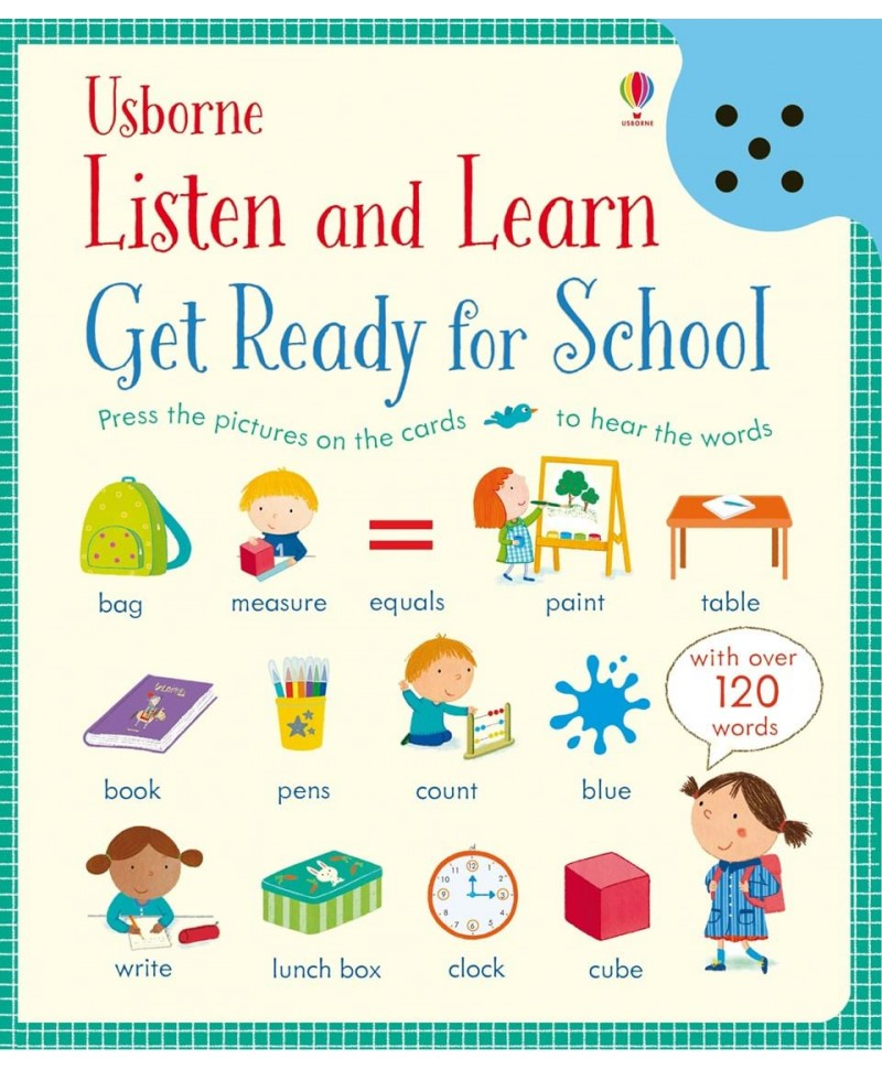 Listen and learn Get ready for school - Gata de școală, carte audio