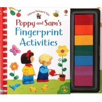 Carte de pictat cu degetelele Fingerprint Activities Poppy and Sam