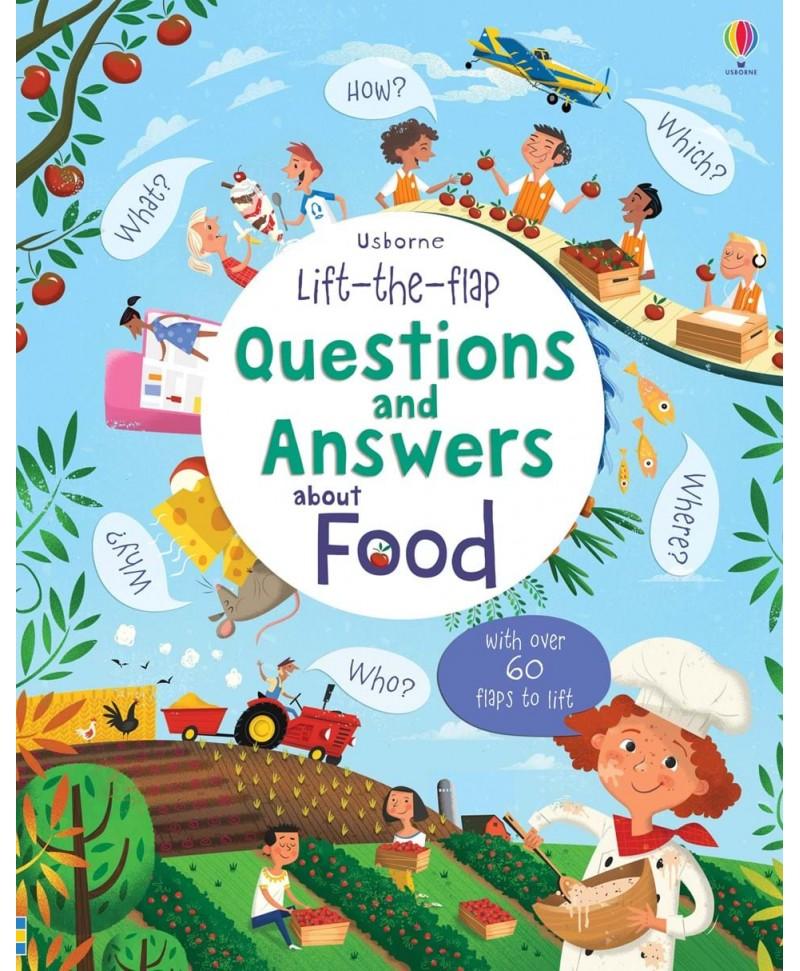 Întrebări și răspunsuri despre mâncare Lift-the-flap questions and answers about Food