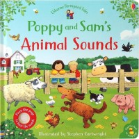 Carte cu sunete de animale Poppy and Sam's Animal Sounds