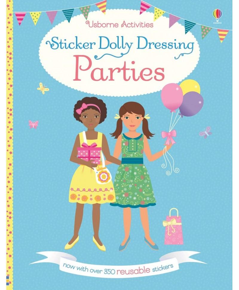 Carte cu stickere păpuși - Sticker dolly dressing Parties