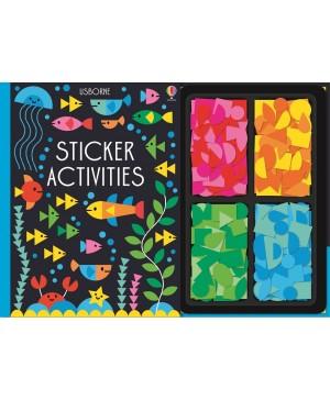 Carte cu stickere colorate Sticker activities Usborne