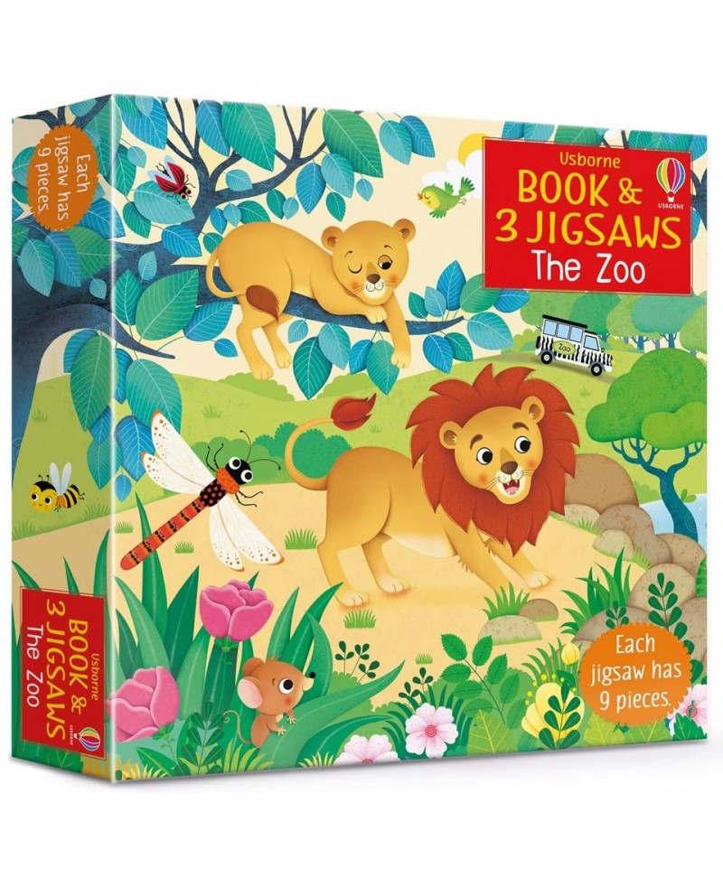 Carte + 3 puzzle mici la Zoo - book and 3 jigsaws The zoo
