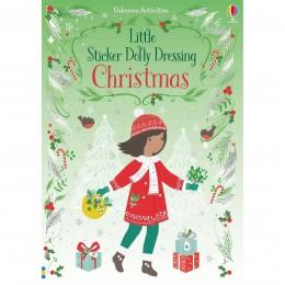 Carte cu stickere de Craciun Little Sticker Dolly Dressing Christmas