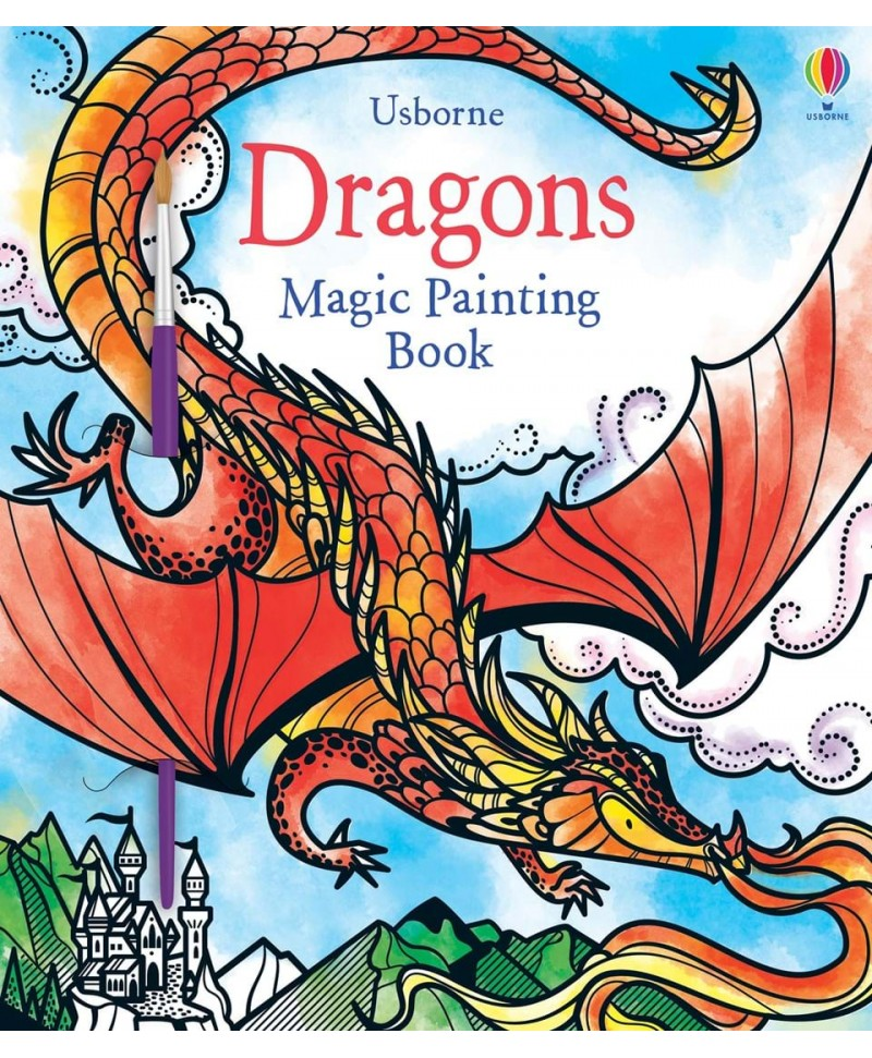 Carte cu pictură magică cu dragoni Magic Painting Dragons