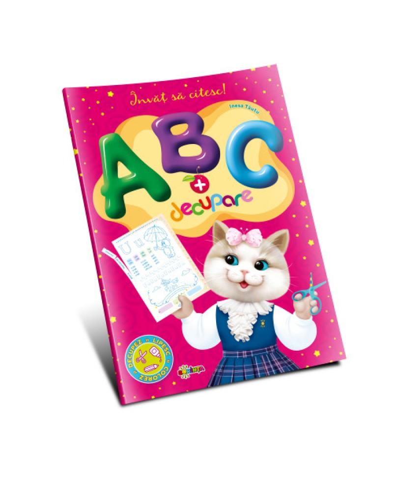 Marea carte de colorat - ABC + decupare. Învăţ să citesc!