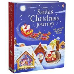 Carte jucărie Săniuța lui Moș Crăciun Santa's Christmas journey with wind-up sleigh
