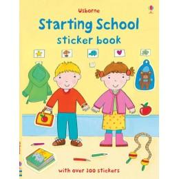 Carte cu stickere despre școală - Starting school sticker book