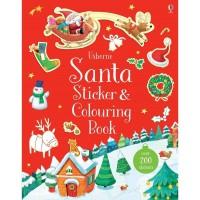 Carte cu stickere si de colorat Santa Sticker and colouring book